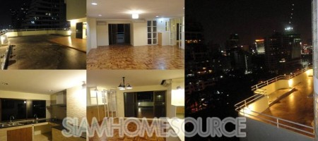 ULTRA Spacious 3BR Phrom Phong Duplex with MEGA TERRACE