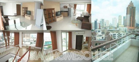 Spacious 2 Bedroom Asoke Duplex Apartment – Great View