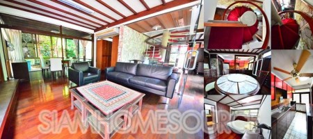 Unique & Quiet 3BR Phrom Phong House Loaded w/ Character