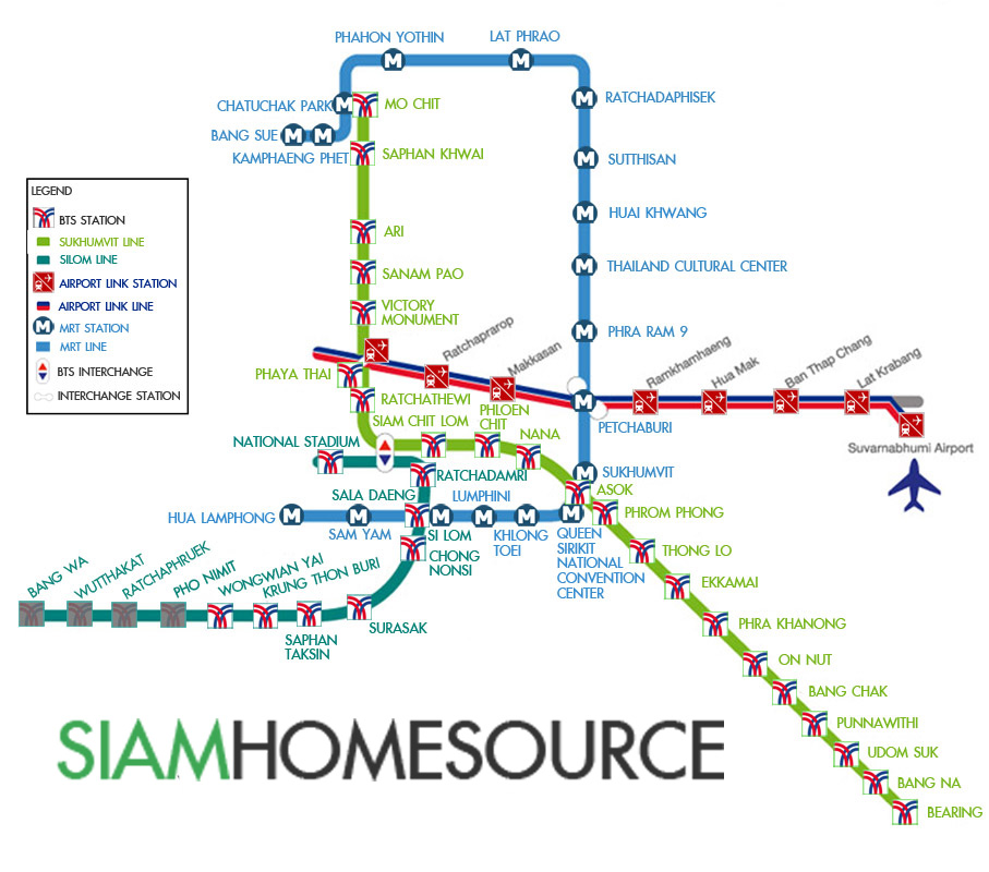 Find Condos Near Bts Skytrain Mrt Stations Siam Home
