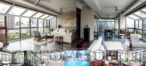 Unique & Modern Industrial Style 1BR Silom Bachelor Pad