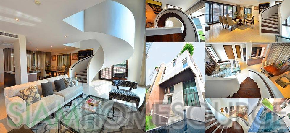 Unique 3BR Sathorn Penthouse Duplex w/ Private Garden & Pool