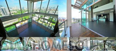 Bright 4BR Bangkok Penthouse Duplex in Sathorn