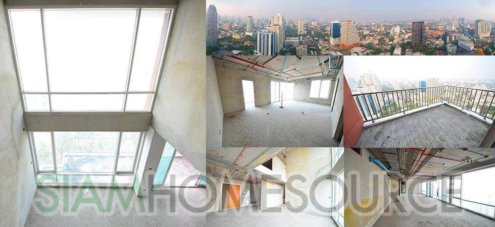 Sensational Sukhumvit Penthouse Duplex Bare Shell – Dream Home