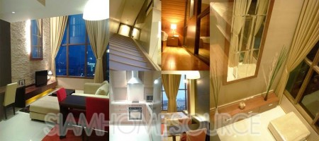 Swanky 1BR Phrom Phong Duplex Bachelor Pad