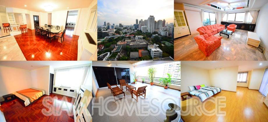 Enormous 400Sq.m. Well-Located 4BR Phrom Phong Apartment – Huge Balcony