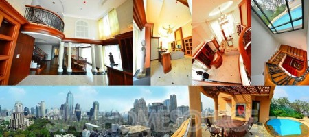 Executive Splendor: Langsuan Triplex Penthouse w/ Private Rooftop Pool