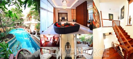 Picturesque 5BR Thai Style Villa in Prime Phrom Phong