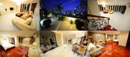 Enormous 572sqm Phrom Phong Serviced Apartment Large Balcony w/ Great View