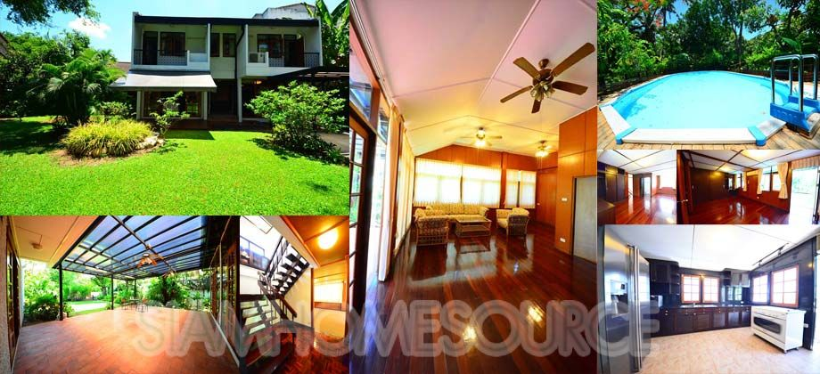 Homey Asoke House in Quiet Mooban Private Pool, Large Garden