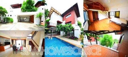 Lovely 4BR Hidden Villa in the Heart of Thonglor – Private Pool