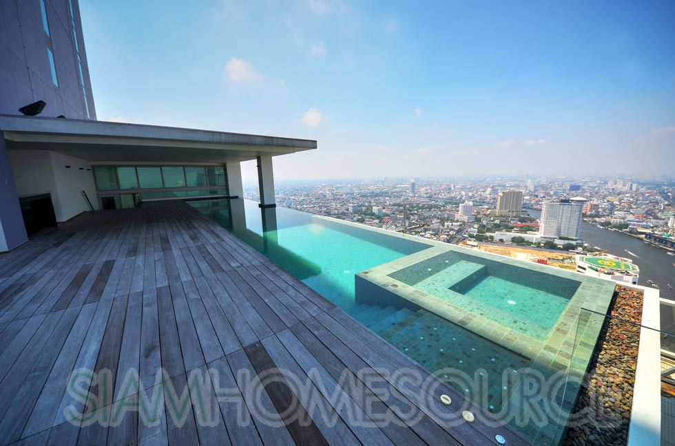 Penthouse With Swimming Pool billionaire play pad: the ultimate bangkok  river view
