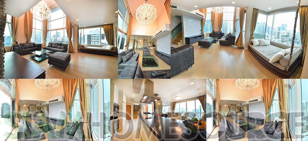 Bright, Modern & Well Located 3BR Bangkok Penthouse Duplex