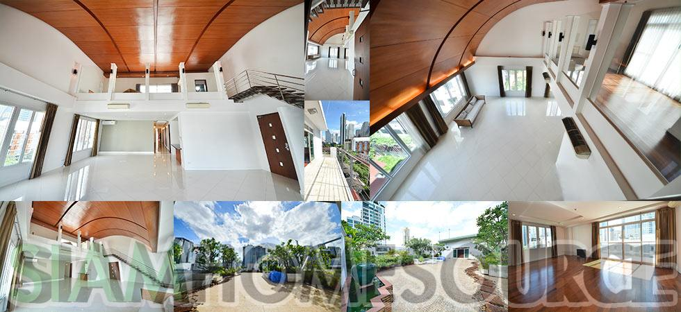 Unique 4BR Tropical Loft Style Bangkok Penthouse – Large Terrace